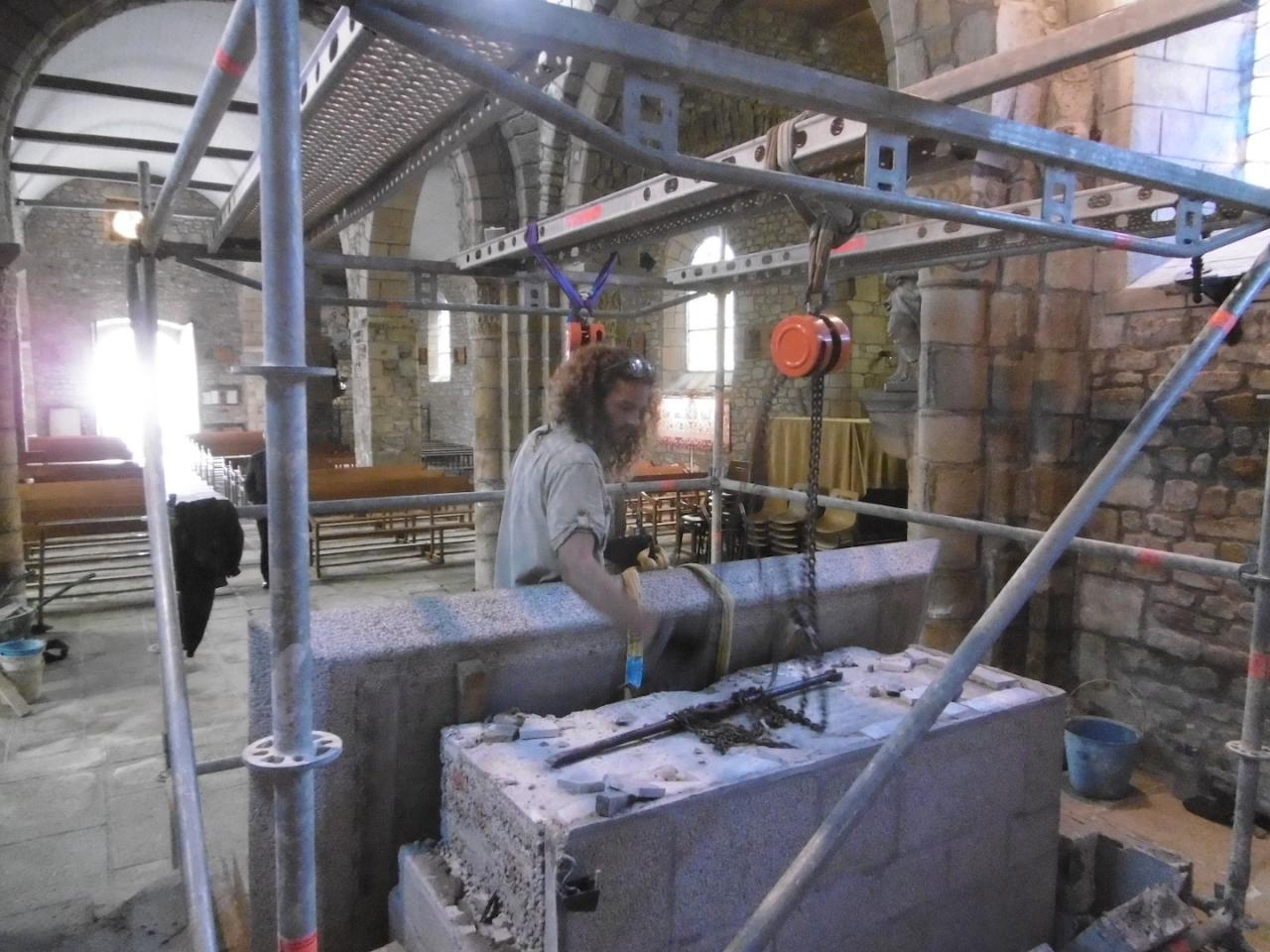 Removing of the ancien altar